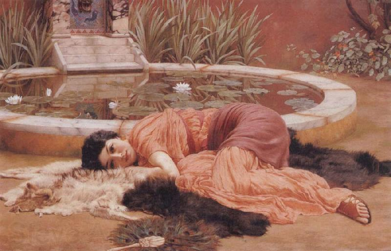 John William Godward Does He Love me